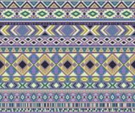 Предпосылка вектора американских индийских мотивов картины племенных этнических геометрическая Стоковые Фото