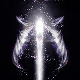 Предпосылка вектора ангела футуристическая Стоковые Изображения RF