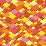 Предпосылка вектора Безшовная иллюстрация абстрактной текстуры с квадратами Дизайн картины цветов осени Стоковые Изображения RF