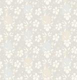 Предпосылка вектора безшовная с декоративными цветками Стоковая Фотография RF