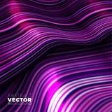 Предпосылка вектора волнистая, пурпурные линии в движении бесплатная иллюстрация