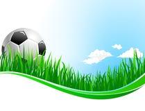 Предпосылка вектора для спорта футбола футбола Стоковые Фотографии RF