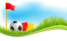Предпосылка вектора для спорта футбола футбола Стоковое фото RF