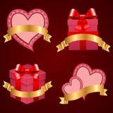 Предпосылка вектора дня Valentine установленная. Стоковые Фото