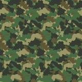 Предпосылка вектора картины камуфлирования конспекта зеленого цвета безшовная Современные войска вводят фон в моду дизайна искусс иллюстрация штока