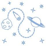 Предпосылка вектора космоса astrix наука иллюстрация вектора