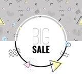 Предпосылка вектора Мемфиса минимальная абстрактная Знамя продажи для онлайн покупок иллюстрация штока