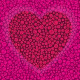 Предпосылка вектора на день Валентайн с сердцем Стоковое Фото
