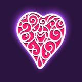 Предпосылка вектора на день Валентайн с сердцем Стоковое Изображение