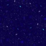 Предпосылка вектора ночи космоса астрономии неба предпосылки вселенной иллюстрации космоса астрологии галактики космическая реали Стоковое Изображение