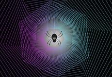 Предпосылка вектора сети паука страшная стоковое фото rf
