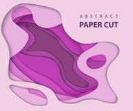Предпосылка вектора с бумагой цвета сирени отрезала формы конспект 3d бесплатная иллюстрация