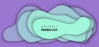 Предпосылка вектора с неоновым отрезком бумаги цвета сирени и бирюзы бесплатная иллюстрация