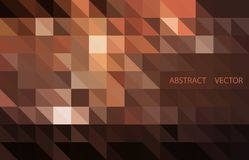 Предпосылка вектора темного Брайна сияющая триангулярная Сияющая иллюстрация, который состоят из треугольников иллюстрация штока
