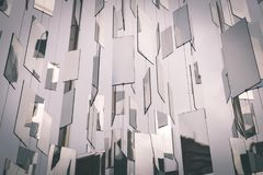 Предпосылка вектора футуристическая - винтажное влияние фильма Стоковая Фотография RF