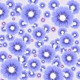 Предпосылка вектора цветастая с цветками Стоковое Фото