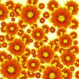 Предпосылка вектора цветастая с цветками Стоковое Изображение