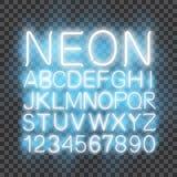 Предпосылка вектора шрифта неонового света прозрачная иллюстрация штока