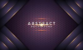 Предпосылка вектора 3D конспекта темная пурпурная металлическая текст можно заменить на ваш текст Вектор Eps10 иллюстрация штока