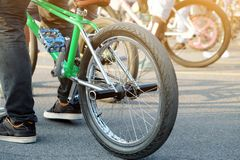 Предпосылка велосипеда BMX Стоковые Изображения