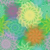 Предпосылка весны безшовная флористическая, вектор иллюстрация штока