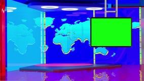 Предпосылка виртуальной студии информационной передачи ТВ установленная иллюстрация штока