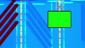 Предпосылка виртуальной студии информационной передачи ТВ установленная бесплатная иллюстрация