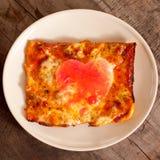Предпосылка влюбленности пиццы Стоковое фото RF