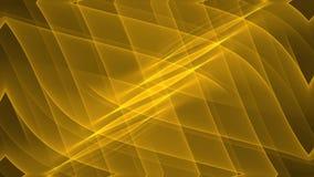 Предпосылка волнистого золота абстрактная в движении тоннеля с меньшими желтыми частицами летая света иллюстрация вектора