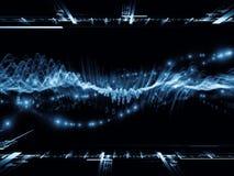 Предпосылка волны синуса цифров Стоковая Фотография RF