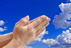 предпосылка вручает небо стоковая фотография