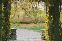 Предпосылка входа природного парка Стоковая Фотография