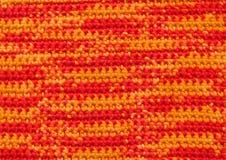 Предпосылка - вязание крючком - variegated пряжа Стоковая Фотография