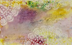 Предпосылка в методе scrapbooking в multi цвете тонизирует Стоковые Фото