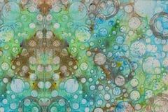 Предпосылка в методе scrapbooking в multi цвете тонизирует Стоковое Фото