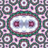 Предпосылка в русском стиле при круг и точечный растр, произведенные от дизайна фрактали стоковое изображение rf