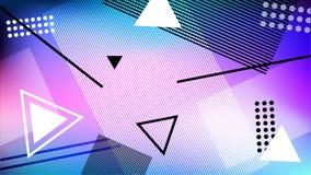 Предпосылка в стиле Мемфиса Геометрические диаграммы на космическом градиенте Стоковые Изображения