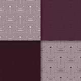 предпосылка геометрическая Maroon безшовные обои Покрашенный комплект Стоковые Изображения