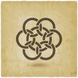 Предпосылка года сбора винограда 7 блокировать кругов иллюстрация штока