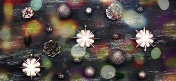 Предпосылка года сбора винограда рождества знамени декоративная Стоковое Изображение RF