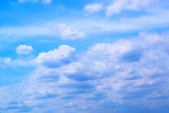 Предпосылка 171015 0055 голубого неба и облаков Стоковое Изображение RF