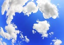 Предпосылка голубого неба с облаками Стоковое фото RF