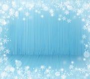 Предпосылка голубого рождества деревянная Стоковые Изображения