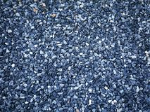 Предпосылка голубых декоративных камней гравия Стоковые Фото