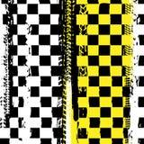 Предпосылка гонок Grunge checkered бесплатная иллюстрация