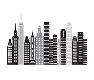 Предпосылка городского пейзажа Стоковое Изображение