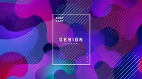 Предпосылка градиента жидкая красочная Жидкость формирует футуристическую концепцию E Дизайн для знамен бесплатная иллюстрация