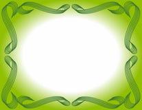 предпосылка граничила зеленый цвет градиента Стоковая Фотография RF