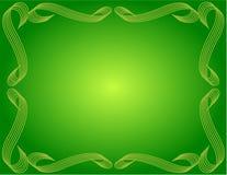 предпосылка граничила зеленый цвет градиента Стоковые Фото