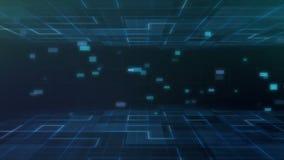 Предпосылка движения технологии науки решетки цифров графическая с сетевыми услугами иллюстрация штока